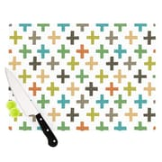 KESS InHouse Hipster Crosses Repeat by Daisy Beatrice Cutting Board; 0.5'' H x 11'' W x 7.5'' D