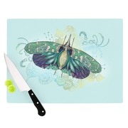 KESS InHouse Blue Deco by Catherine Holcombe Moth Cutting Board; 0.5'' H x 15.75'' W x 11.5'' D