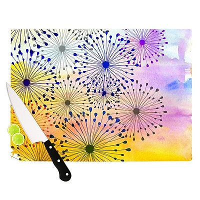 KESS InHouse Bursting Blossoms by Sreetama Ray Cutting Board; 0.5'' H x 15.75'' W x 11.5'' D WYF078277501215
