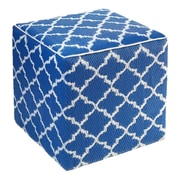 Fab Rugs World Tangier Pouf Ottoman; Regatta Blue