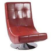 Armen Living Mario Swivel Chair; Red