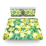KESS InHouse Flower Garden Mosaic by Laura Nicholson Light Cotton Duvet Cover; Twin