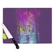 KESS InHouse Purple Rain by Frederic Levy-Hadida Cutting Board; 0.5'' H x 11'' W x 7.5'' D