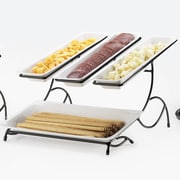 Cal-Mil Iron Wire 2 Tier Rack with 2 Trays