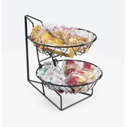 Cal-Mil 2-Tier Round Wire Basket Rack