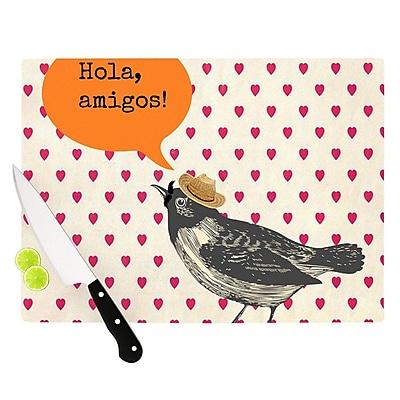 KESS InHouse Hola by Sreetama Ray Spanish Cutting Board; 0.5'' H x 11'' W x 7.5'' D WYF078277496997