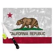 KESS InHouse California Flag by Bruce Stanfield Cutting Board; 0.5'' H x 11'' W x 7.5'' D