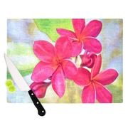 KESS InHouse Plumeria by Sylvia Cook Flower Petals Cutting Board; 0.5'' H x 15.75'' W x 11.5'' D