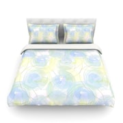 KESS InHouse Paper Flower by Alison Coxon Light Cotton Duvet Cover; Twin