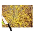 KESS InHouse Autumn Yellow by Ingrid Beddoes Cutting Board; 0.5'' H x 11'' W x 7.5'' D