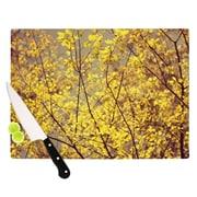 KESS InHouse Autumn Yellow by Ingrid Beddoes Cutting Board; 0.5'' H x 11'' W x 7.5'' D