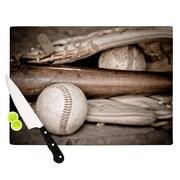 KESS InHouse Play Ball by Debbra Obertanec Baseball Cutting Board; 0.5'' H x 15.75'' W x 11.5'' D