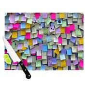 KESS InHouse Respekt by Trebam Rainbow Paper Cutting Board; 0.5'' H x 15.75'' W x 11.5'' D