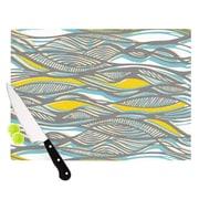 KESS InHouse Drift by Gill Eggleston Cutting Board; 0.5'' H x 11'' W x 7.5'' D