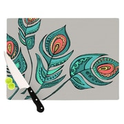 KESS InHouse Feathers Gray by Brienne Jepkema Cutting Board; 0.5'' H x 15.75'' W x 11.5'' D