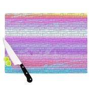 KESS InHouse Drip Dye Warm Strid by Nina May Cutting Board; 0.5'' H x 11'' W x 7.5'' D