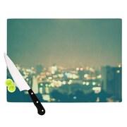 KESS InHouse Anniversary by Myan Soffia City Lights Cutting Board; 0.5'' H x 15.75'' W x 11.5'' D
