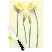 KESS InHouse Springtime Yellow by Debbra Obertanec Tulip Cutting Board; 0.5'' H x 11'' W x 7.5'' D