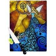 KESS InHouse Blue Fairy by Mandie Manzano Cutting Board; 0.5'' H x 11'' W x 7.5'' D