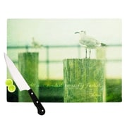KESS InHouse Sweetest Hours by Robin Dickinson Seagull Cutting Board; 0.5'' H x 11'' W x 7.5'' D