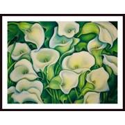 Printfinders 'Sun Kissed Calla Lilies' by Debra Bucci Framed Print Painting