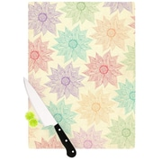 KESS InHouse Spring Florals by Pom Graphic Design Cutting Board; 0.5'' H x 15.75'' W x 11.5'' D