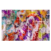 KESS InHouse Deco Quantum Foam Rainbow Geometric Doormat