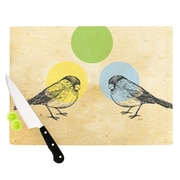 KESS InHouse Green by Sreetama Ray Paper Birds Cutting Board; 0.5'' H x 11'' W x 7.5'' D