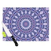 KESS InHouse Kaleidoscope Blue by Iris Lehnhardt Circle Cutting Board; 0.5'' H x 11'' W x 7.5'' D