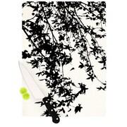KESS InHouse Black on White by Ingrid Beddoes Cutting Board; 0.5'' H x 15.75'' W x 11.5'' D
