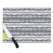 KESS InHouse 51 Shades of Gray by Empire Ruhl Cutting Board; 0.5'' H x 11'' W x 7.5'' D
