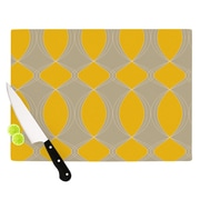 KESS InHouse Geometries in Yellow by Julia Grifol Cutting Board; 0.5'' H x 15.75'' W x 11.5'' D