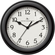 FirsTime 8.5'' Essential Wall Clock; Black