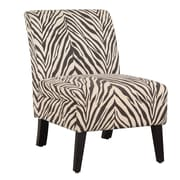 Linon Linen Zebra Lily Side Chair
