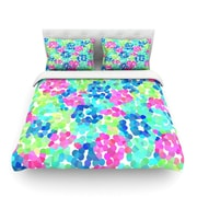 KESS InHouse Flower Garden by Beth Engel Light Cotton Duvet Cover; Queen
