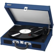 Jensen Portable 3 Speed Stereo Turntable with Built in Speakers; Blue