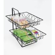 Cal-Mil 2-Tier Square Wire Basket Rack