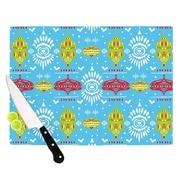 KESS InHouse Deco Row Blue by Miranda Mol Cutting Board; 0.5'' H x 11'' W x 7.5'' D