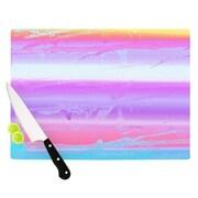 KESS InHouse Drip Dye Warm by Nina May Cutting Board; 0.5'' H x 11'' W x 7.5'' D