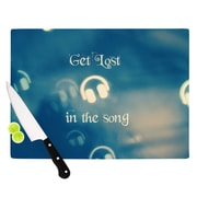 KESS InHouse Get Lost In The Song by Beth Engel Headphones Cutting Board; 0.5'' H x 11'' W x 7.5'' D
