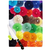 KESS InHouse Adored by Heidi Jennings Colored Circles Cutting Board; 0.5'' H x 11'' W x 7.5'' D