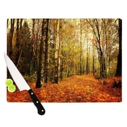 KESS InHouse Autumn Leaves by Sylvia Cook Rustic Cutting Board; 0.5'' H x 11'' W x 7.5'' D