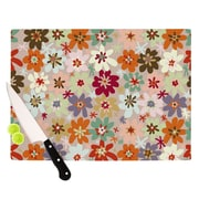KESS InHouse Sophie by Laura Escalante Floral Cutting Board; 0.5'' H x 15.75'' W x 11.5'' D