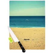 KESS InHouse Escape by Robin Dickinson Beach Sand Cutting Board; 0.5'' H x 15.75'' W x 11.5'' D