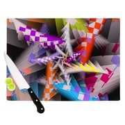 KESS InHouse Sticker Thicket by Michael Sussna Cutting Board; 0.5'' H x 15.75'' W x 11.5'' D