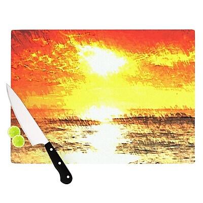 KESS InHouse Riviera by Oriana Cordero Cutting Board; 0.5'' H x 11'' W x 7.5'' D WYF078277497650