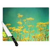 KESS InHouse Yellow Flowers by Sylvia Cook Cutting Board; 0.5'' H x 15.75'' W x 11.5'' D