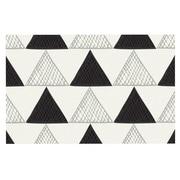 KESS InHouse Textured Triangles Doormat