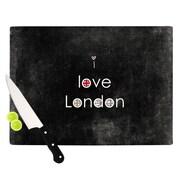 KESS InHouse I Love London by Ingrid Beddoes Cutting Board; 0.5'' H x 15.75'' W x 11.5'' D