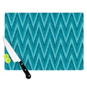 KESS InHouse Island Blue by Amanda Lane Cutting Board; 0.5'' H x 15.75'' W x 11.5'' D